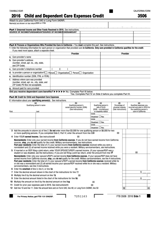 Top 6 California Ftb Form 3506 Templates Free To Download In Pdf Format