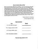 Parent Volunteer Sign-up Sheet