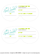 It's A Spa-aaah Party Invitation Template