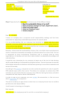 Letter For Your Hr Or Sd Department Template