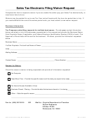 Sales Tax Electronic Filing Waiver Request - Virginia Department Of Taxation