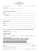 Recreational Vehicle Bill Of Sale Template