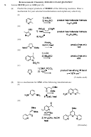 Heteroaromatic Chemistry Exam Worksheet