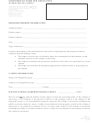 Form 135 - Supplemental Form For Application Within 300' Of Campus