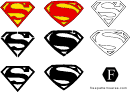 Small Superman Symbol Templates