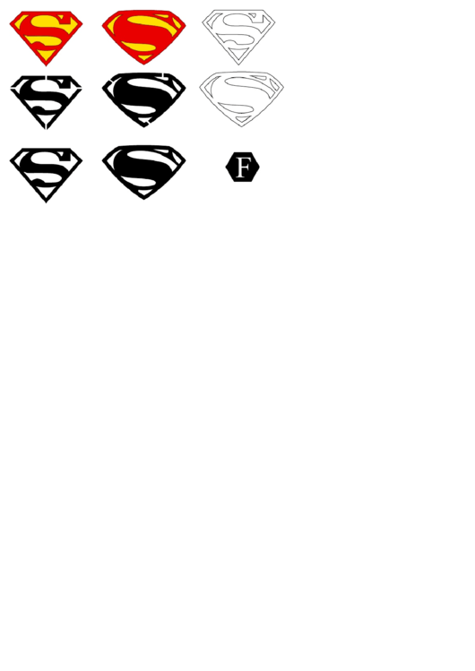 top superman symbol templates free to download in pdf format
