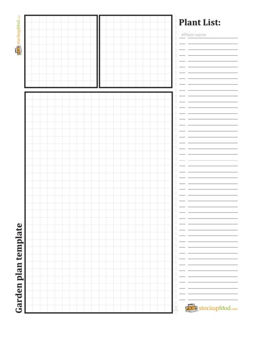 Garden Plan Template