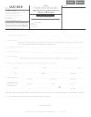 Form Llc-45.5 - Application For Admission To Transact Business