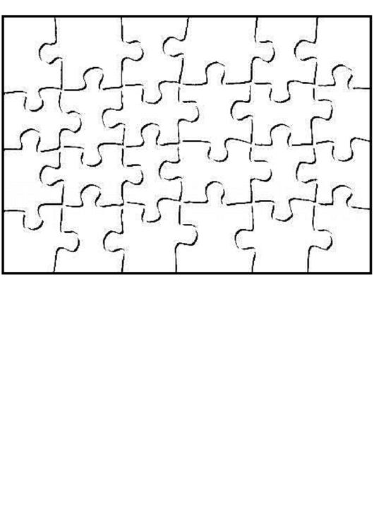 24 Piece Jigsaw Puzzle Template