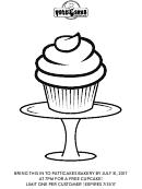 Cupcake Coloring Sheet