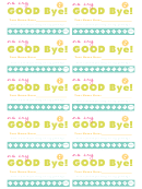 Good Bye - Card Template