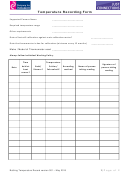 Temperature Recording Form