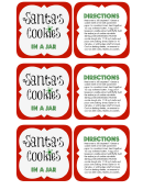 Santa's Cookies Tags Template