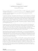 Attachment F - Confidentiality And Non-disclosure Agreement For The State Bar Of California
