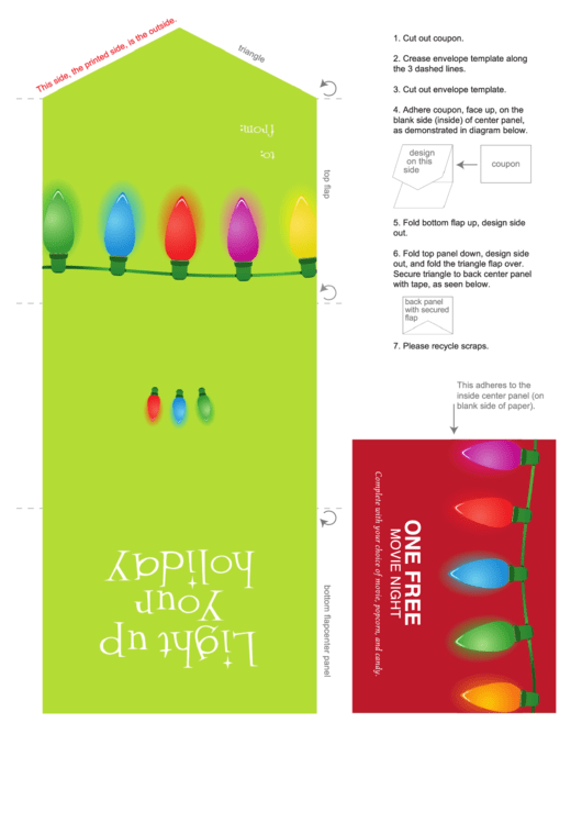 Light Up Your Holiday Coupon Template