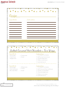 Hot Chocolate Bar Recipe Template