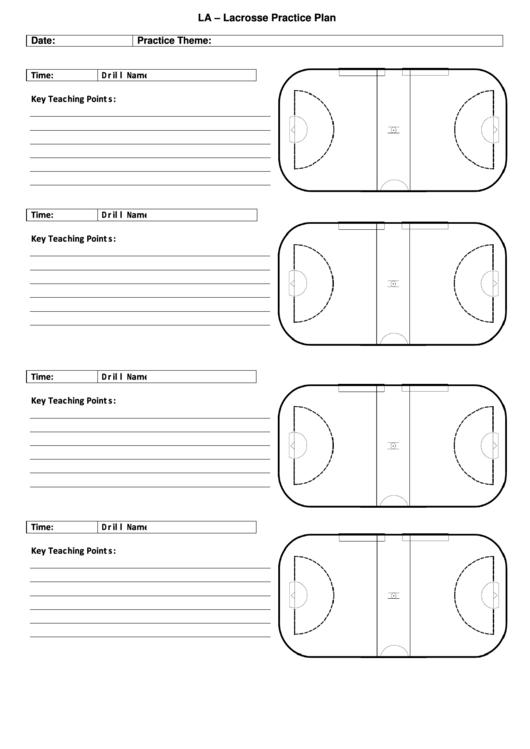 Fillable Lacrosse Practice Plan Template printable pdf ...
