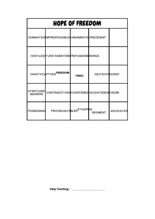Bingo Cards Worksheet Generator Template Printable Pdf Download