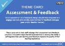 Theme Card: Assessment And Feedback