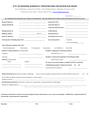 City Of Reading Business / Professional Registration Form