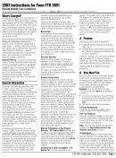 Instructions For Form Ftb 3801 - Passive Activity Loss Limitations - 2003