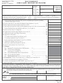 Form Fi-161 - Vermont Fiduciary Return Of Income - 2012