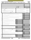 Form 100w - California Corporation Franchise Or Income Tax Return - Water's-edge Filers - 2011
