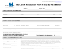 Form Up-4 - Holder Request For Reimbursement