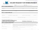 Form Up-4 - Holder Request For Reimbursement