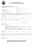 Application For Business License - City Of Mercer Island