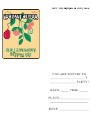 10th Wedding Anniversary Party Invitation Template