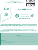 Instructions For Form Me Uc-1 - Quarterly Return Of Unemployment Contributions - 2017