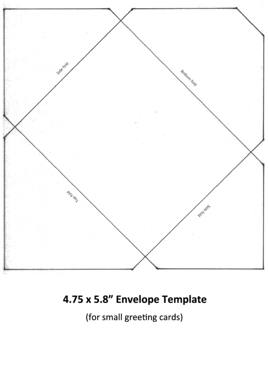 "4.75 X 5.8"" Envelope Template printable pdf download"