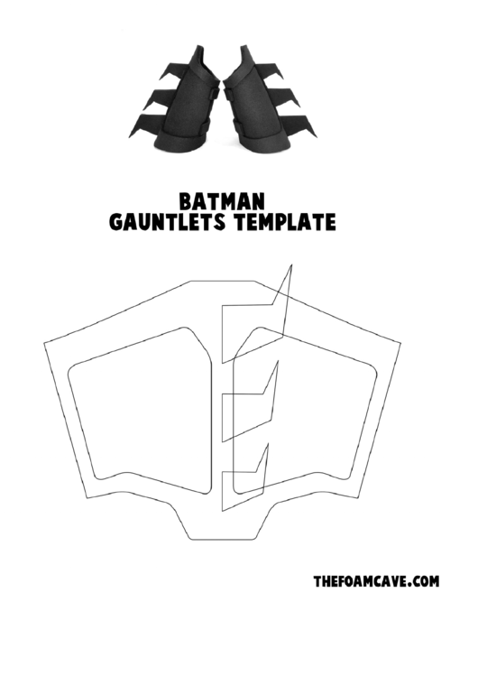 Batman Gauntlets Template