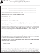 Form 941af-me - Nonresident Member Affidavit And Agreement To Comply With Maine Income Tax - 2016