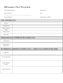 Eei Lesson Plan Template