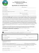 Application For Utility Service - City Of Orting
