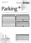 Staff Parking Permit Application Form