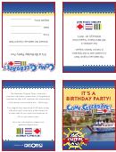 Birthday Party Aboard Gateway Clipper Fleet - Invitation Card Template