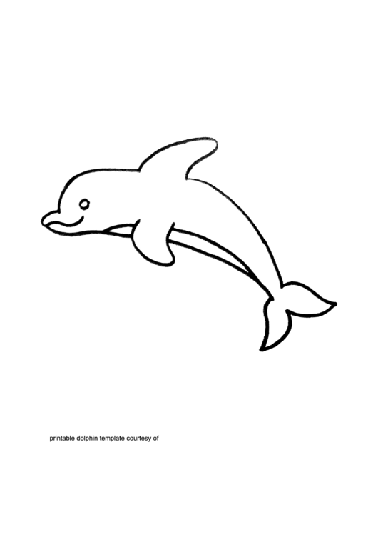 Dolphin Template printable pdf download