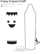 Cut-out Crazy Crayon Craft Template