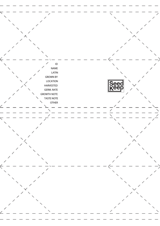 a4 seed envelope template printable pdf download