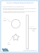 Falling Star Magnetic Bookmark Template