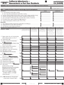 Schedule Ca (540nr) - California Adjustments For Nonresidents Or Part-year Residents - 2013