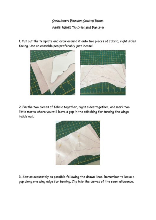 Angel Wings Template With Instructions Printable pdf