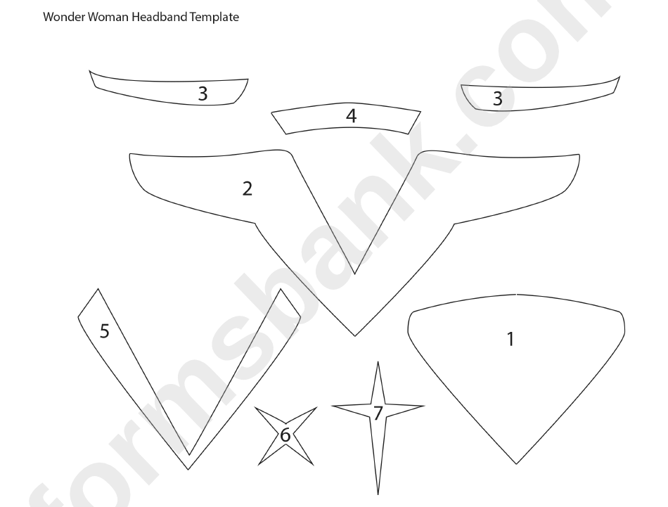 wonder woman headband template printable pdf download