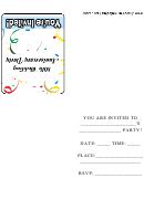 80th Wedding Anniversary Party Invitation Template