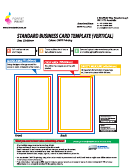 Standard Business Card Template (vertical)