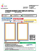 Standard Business Card Template (vertical)