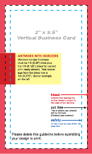 Vertical Business Card Template - 2 X 3.5